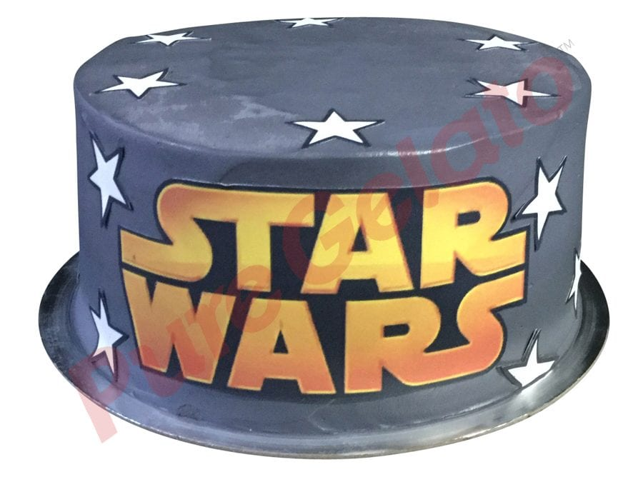 Double stack smooth grey Cream star wars themed