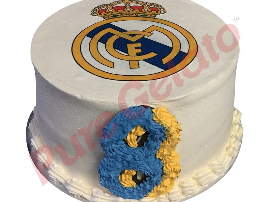 Double stack smooth white Cream reale Madrid logo