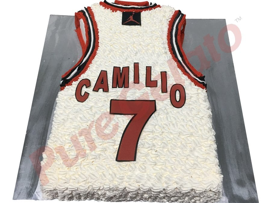 Jersey cake Basketball Chicago bulls back of jersey name+number