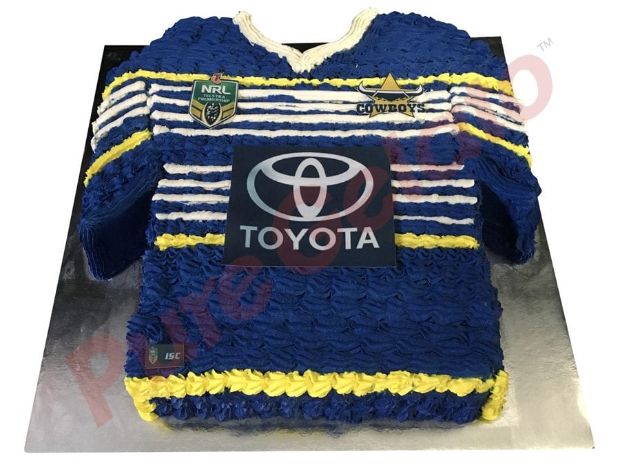 Jersey cake NRL North Queensland Cowboys