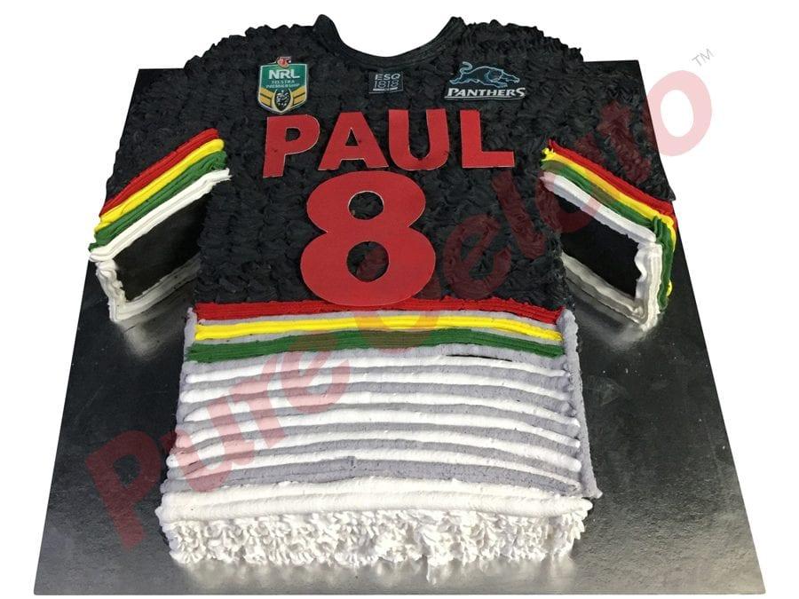 Jersey cake NRL Penrith panthers