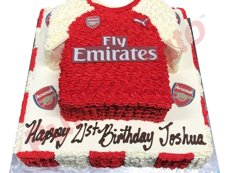 Jersey cake Soccer Arsenal two tier