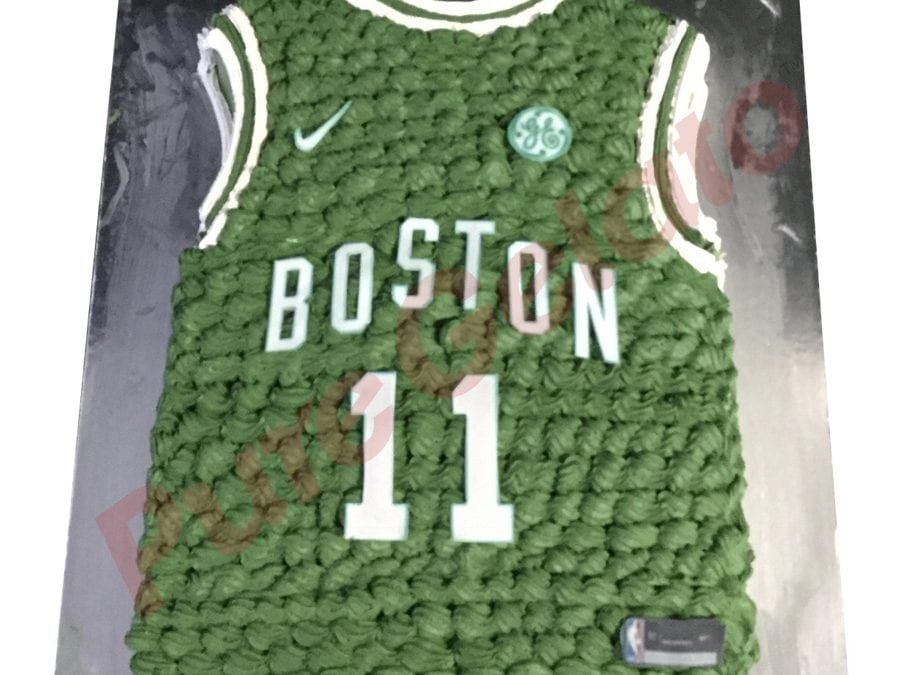 Jersey cake basketball Boston Celtics front+number