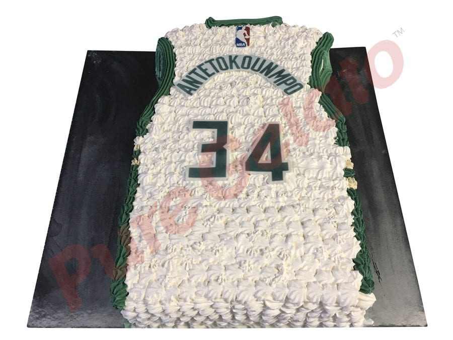 Jersey cake basketball Milwaukee bucks back
