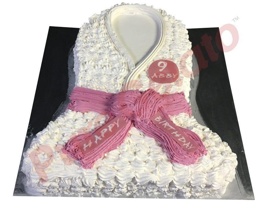 Jersey cake karate pink