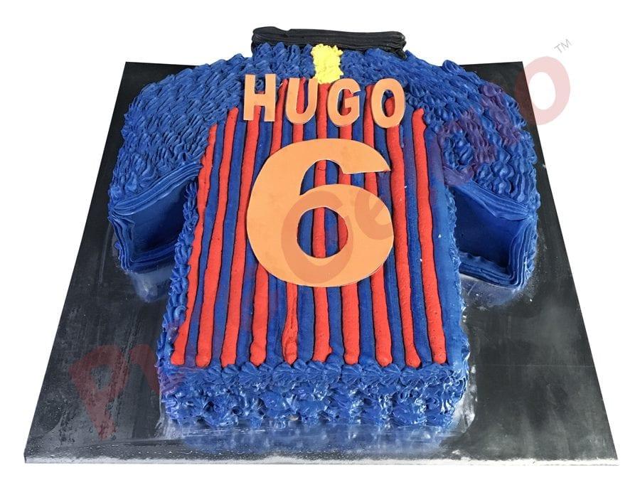 Jersey cake soccer Barcelona back
