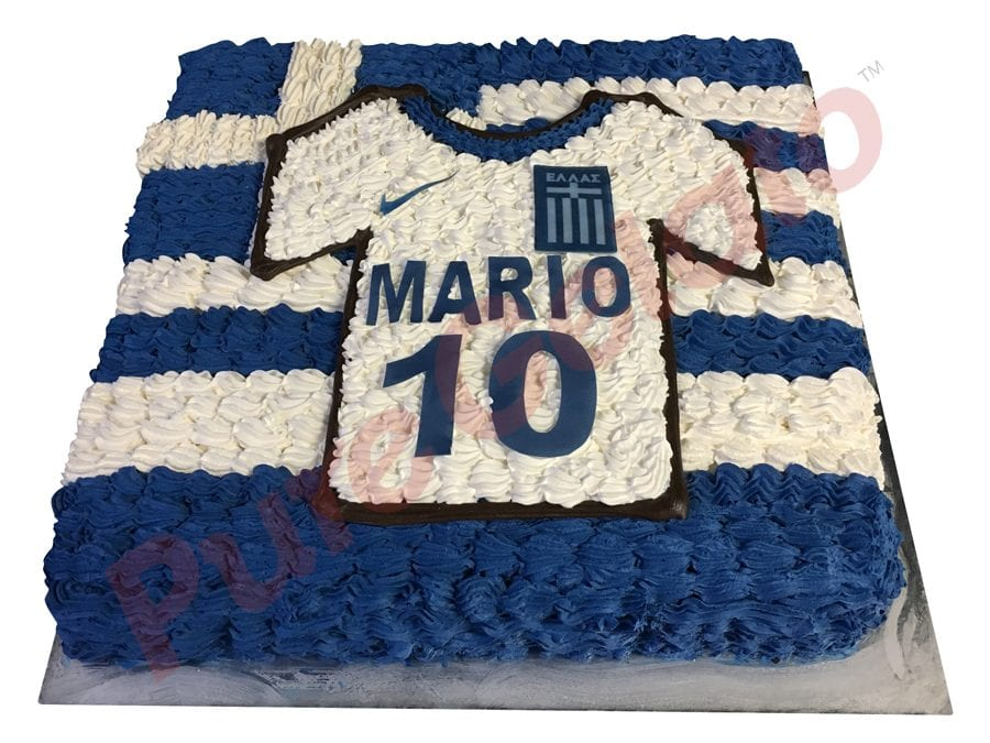 Jersey cake soccer Greek flag and jersey