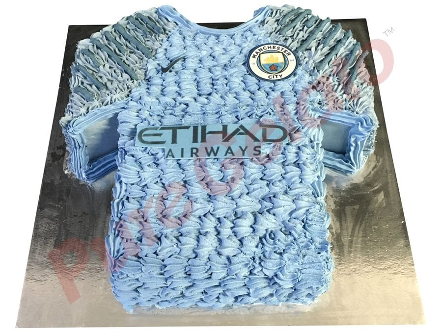 Jersey cake soccer Manchester city front