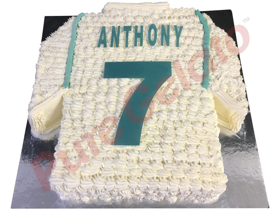 Jersey cake soccer Real Madrid back