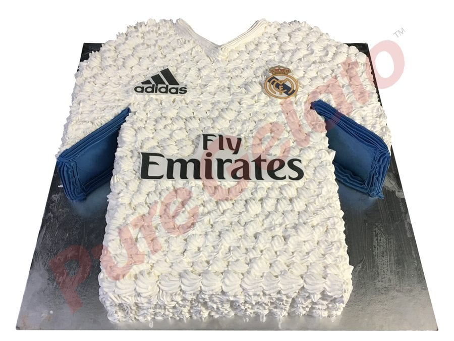 Jersey cake soccer Real Madrid front+logos