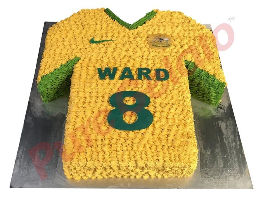 Jersey cake soccer Socceroos front name number