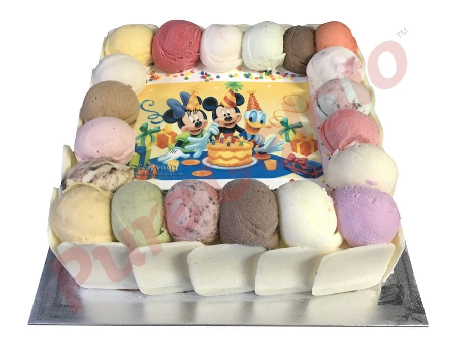 Scoop edges only White Choc Sides+Mickey Party image