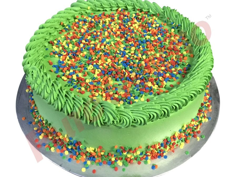 Smooth Green Cream+Piping Sprinkles top+bottom