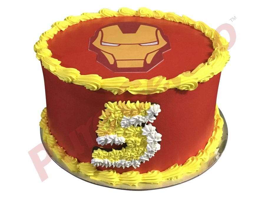 Smooth Red Cream Yellow Piping Double Stack Ironman image
