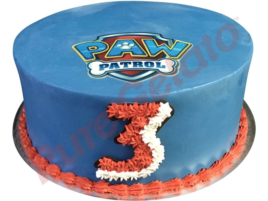 Smooth blue Cream double stack paw petrol image red piping