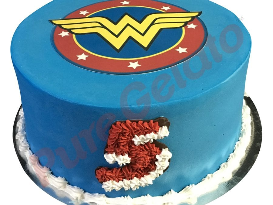 Smooth blue Cream double stack wonder woman image