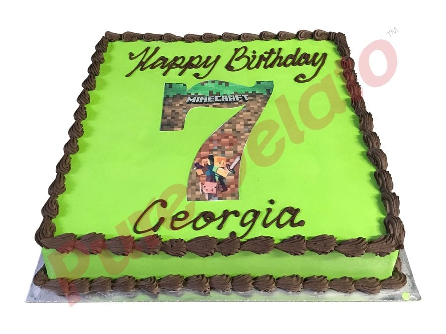 Smooth green Cream Brown Piping Minecraft number image