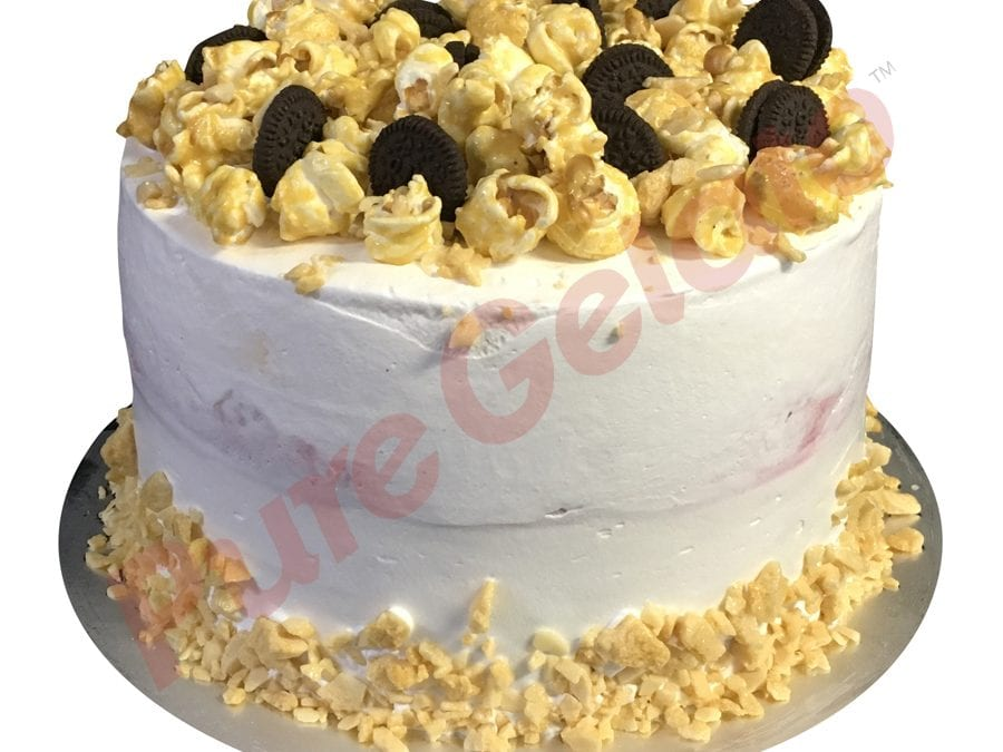 Smooth naked white Cream double stack +cluster honeycomb edge