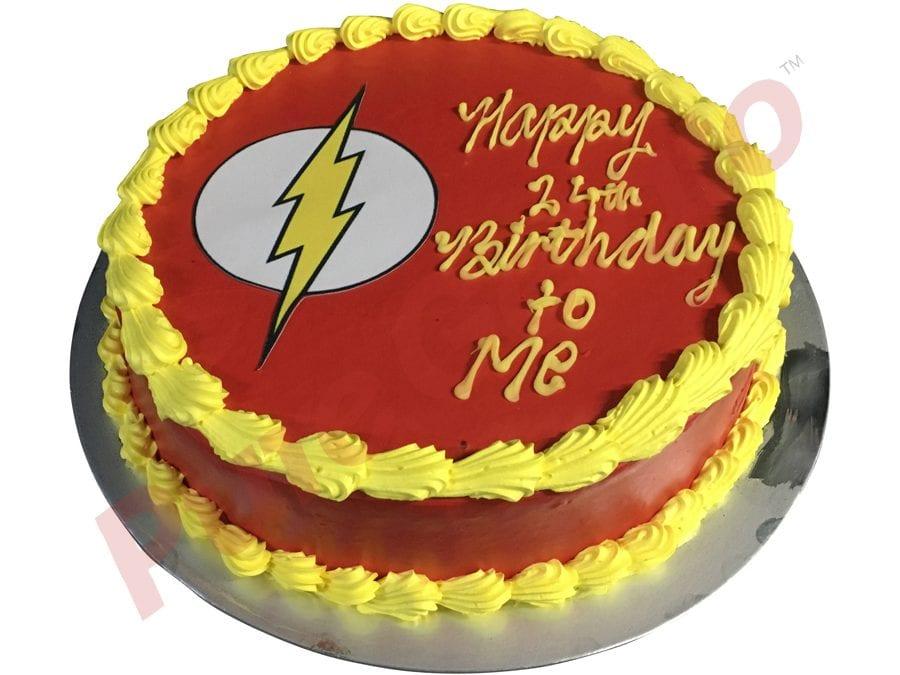 Smooth red Cream Yellow Piping Flash lightning image