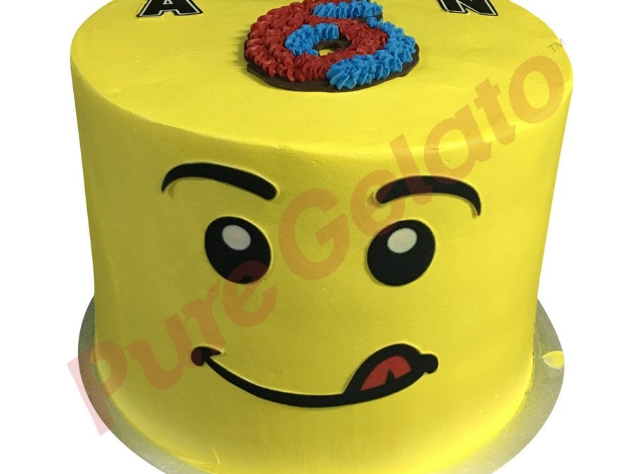 Smooth yellow Cream triple stack LEGO face image