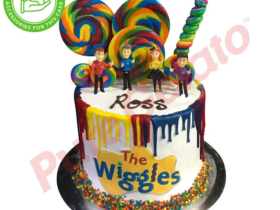 Triple Stack Multi Coloured Drip wiggles image+customer supplied acc
