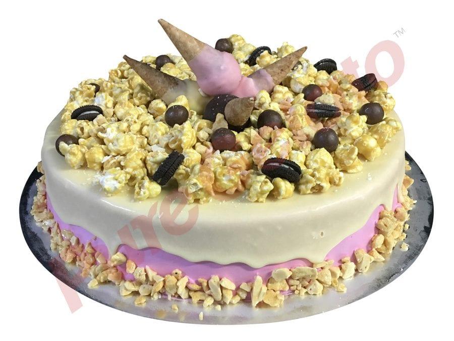 White choc drip 30 person serve pink Cream Mini Cones+cluster