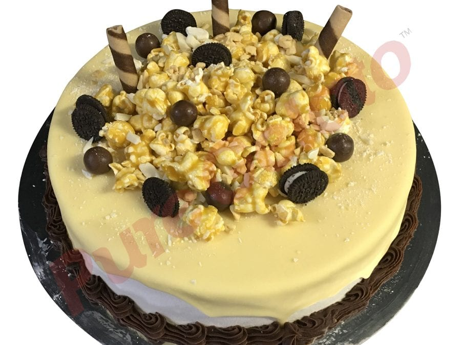 White choc drip cluster choc piping