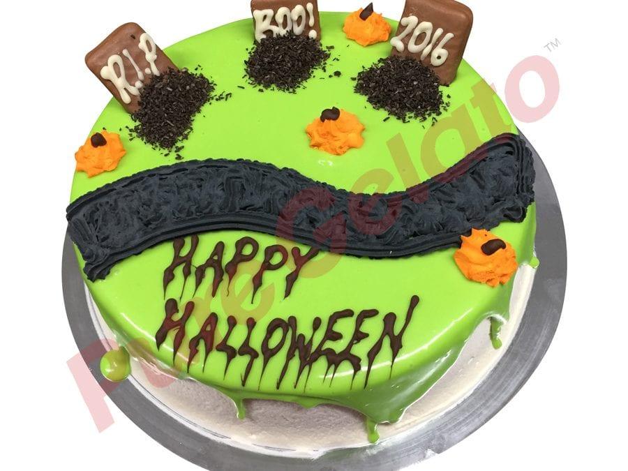 Halloween Green Choc Drip And Headstones